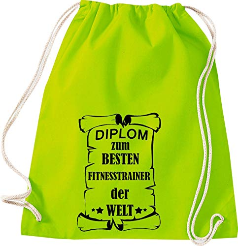 Camiseta stown Turn Bolsa Diploma el mejor Fitness Entrenamiento del Mundo, lima