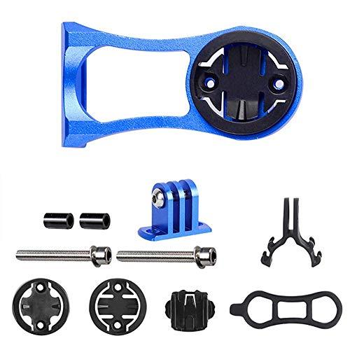 Bostar Compatible Holder Soporte para Bicicleta Linterna Ordenador para Garmin Edge Ojo de Gato para Bicicletas Bryton GPS GoPro Acción (Azul)