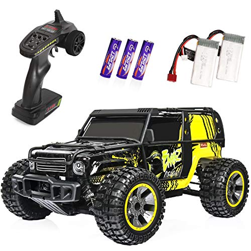 RC Cars 1:10 Scale Large High Speed Remote Control Car for Adults Kids, 40+ kmh 4WD 2.4GHz Off Road Monster Truck Toys, All Terrain Electric Vehicle Boy Gifts with 2 Batteries for 30+ Min Play