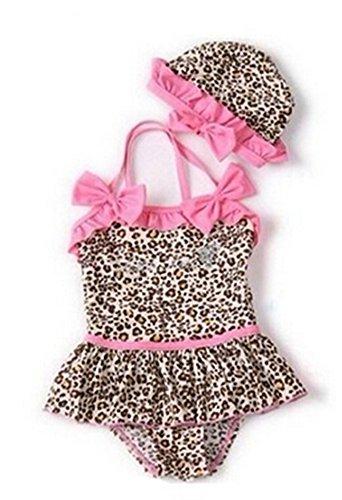 Monkeybrother pop Baby Kleinkind Mädchen niedlich Bademode Bikini Kinder Badeanzug (2T(70-80cm))
