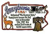 Pennsylvania the Keystone State Outline Montage Fridge Magnet