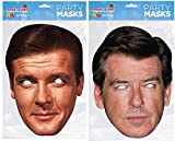 Thorness Roger Moore and Pierce Brosnan Official Celebrity Face Masks