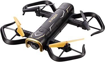 Attop Foldable RC Drone, X-Pack 5 Portable Quadcopter for Beginners and Kids, 720P FPV WiFi Camera via App, with Headless Mode, Altitude Hold, 3D Flips, One Key Take-Off/Landing and 1 Extra Battery