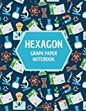 Hexagonal Graph Paper Notebook: Hex Grid Composition Notebook with ¼ inch Side Length, 150 pages