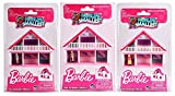 Worlds Smallest Barbie 1978 A-Frame Dreamhouse Set Bundle of 3 - Malibu - Swimsuit - Totally Hair