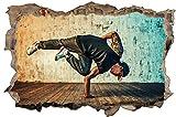 Freestyle HipHop Dance Tanz Wandtattoo Wandsticker Wandaufkleber D0936 Größe 40 cm x 60 cm