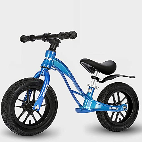 YMDA Balance Bicycle, Non-Pedal Magnesium Alloy Frame, Imported Bearing Rubber Pneumatic Tires, 360° Handlebar Soft Seat Adjustable