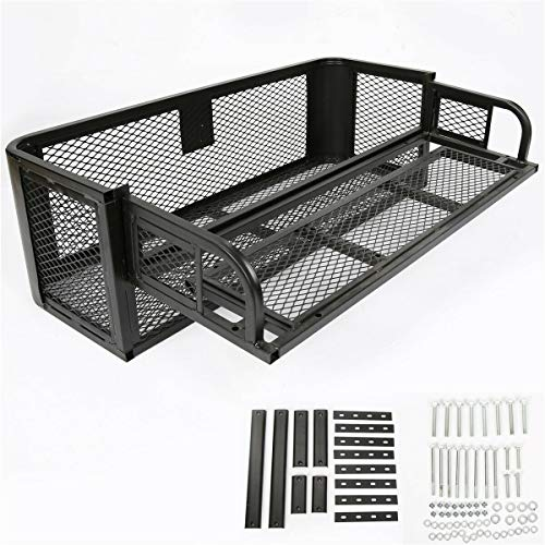 Why Should You Buy goodyusstore Heavy Duty Steel and Powder Coated, Carry More Gear, ATV UTV Ramp Universal Front Rear Drop Basket Rack Steel Cargo Hunting, Perfect for The Trails