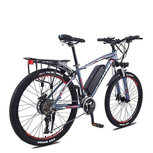 "LYRWISHLY ANCHEER 26"" Bicicleta eléctrica de montaña for Adultos, 350W E-Bici con 36V 13Ah Litio-Ion for Adultos, Profesional 27Speed ​​Transmisión Engranajes (Color : Blue)"
