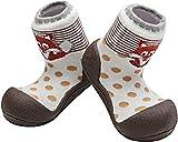 Attipas Zoo AZO0102, Zapatos Primeros Pasos para recién nacidos, Marrón, 20 EU (M 109-115 mm)