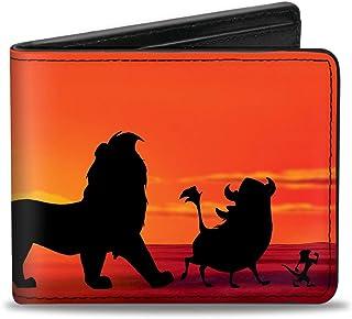 "Buckle-Down Men's Bifold Wallet The Lion King, Multicolor, 4.0"" x 3.5"""