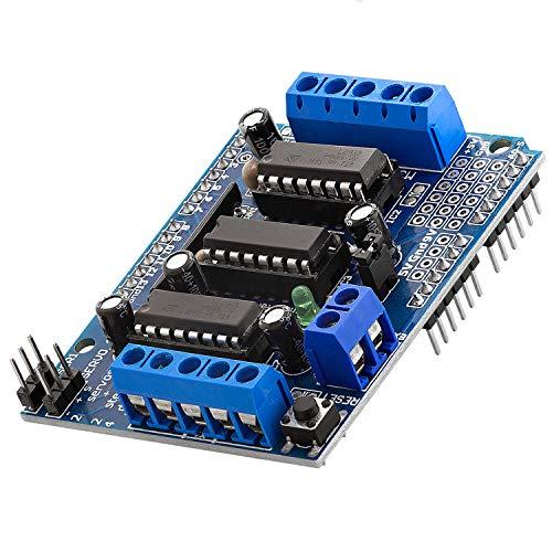 AZDelivery L293D 4-Kanal Motortreiber Shield Schrittmotortreiber für Arduino Mega 2560 und UNO R3 / Diecimila/Duemilanove eBook inklusive