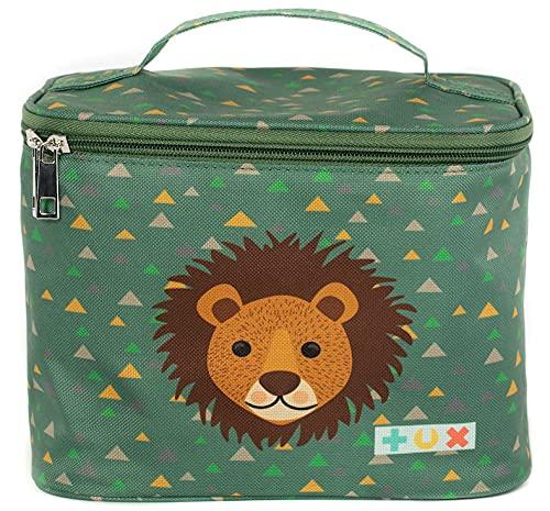 TUX Bag, Tasche für Tonie Box, Alles in Einer Tasche, bis zu 15 Tonies, Tragetasche für Toniebox, Reisetasche, Transporttasche für die Toniebox (Kindergepäck, Löwe)