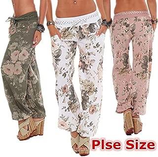 maledery Women's Fashion Casual Pants Maxi Loose Harem Pants Yoga Leggings Pants Trousers Pantalon Femme(3XL,Blue)