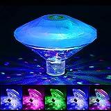 Sinvitron Teichlichter, RGB-Unterwasserlichter, Disco-Partylichter, mehrfarbige Poollichter mit 7 Beleuchtungsmodi für Springbrunnen-Poolbars usw, LED-Spa-Licht-Schwimmbadlampe (4inch, Transparent) …