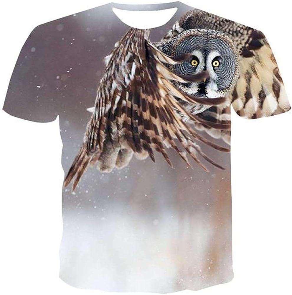 Men's 3D T-Shirt,Men's Animal T-Shirt Summer Men's Short-Sleeved T-Shirt Casual