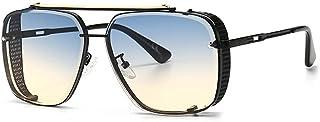 QWKLNRA - Gafas De Sol para Hombre Montura Negra Lente Azul Y Amarilla Gafas De Sol Deportivas Polarizadas Gafas De Sol Deportivas para Hombre Gafas De Sol Gradiente contra UV Mujer Moda Hombre Gafas