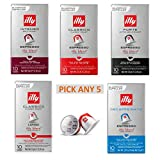 Illy Espresso – Nespresso Compatible Coffee Capsules. Pick Any 5 Packs. Choose from: Intenso, Classico, Forte, Lungo, Decaf