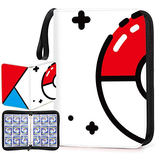 Trading Card Binder with Sleeves,720 Pockets Zipper Binder Card Holder Collectors Album Carrying Case with 40 Platinum 18-Pocket Sheets for TCG Baseball and Football Cards Organizer