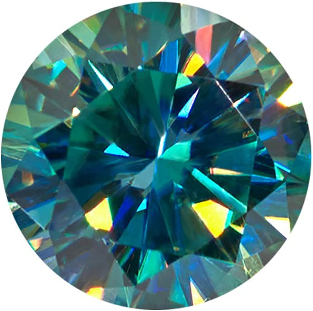 Ranking TOP12 Certified Green Moissanite Diamond 1.20 Size Round Ct Japan's largest assortment Brill Ring