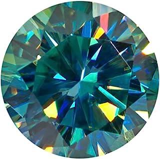 Ring Size Moissanite Diamond 0.70 Ct Round Brilliant Cut Moissanite Egl Certified Genuine Loose Moissanite Green
