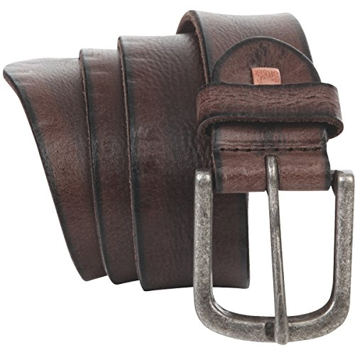 Ceinture Homme/Ceinture Homme Premium leather The Art of Belt Unisex, brun foncé, Größe/Size:100, Farbe/Color:marron