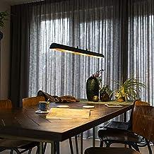 QAZQA Nowoczesna lampa wisząca czarna ze złotą/mosiężną stroną wewnętrzną z LED – Balo 4 żarówki/oświetlenie wewnętrzne/la...