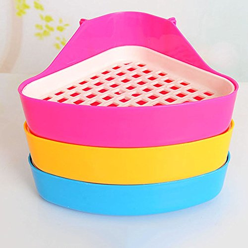 gloednApple 1Pcs Pet Small Rat Toilet, Small Animal Hamster Guinea Pig Litter Tray Corner Color Random
