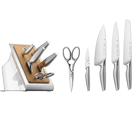 WMF 1882329992 Bloc à Couteaux, Acier, Argent, 37 x 22 x 19 cm