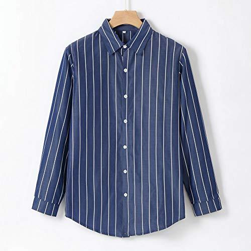 MUMU-001 Feitong Camisa Masculina Mannen modieuze bamboe katoen lange mouwen Revers gestreept hemd casual top blouse