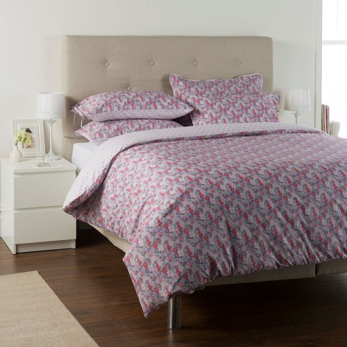 Ditton Hill Bethany Blue Pink Purple Teal Floral Single Duvet Quilt Cover Bedding Set