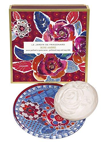 Fragonard Parfumeur Rose Ambre Dish & Perfumed Soap - 150 g