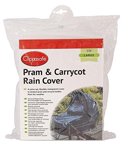 Clippasafe - CL240 - Protection Pluie & Vent - Clippasafe Universal Pram & Carrycot Rain Cover -Large