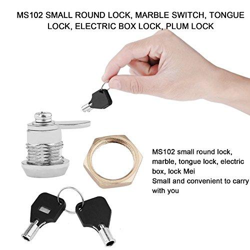 Cerradura tubular para cajón de seguridad con 2 llaves MS102