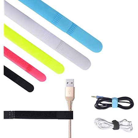 ONME Cable Holder Multipurpose Cord Management for Home Non-Toxic Rubber Material Self-Adhesive Desk Cord Clips Durable Cord Organizer Cord Holder for Office and Car Cable Clips 3 Colors 12pcs