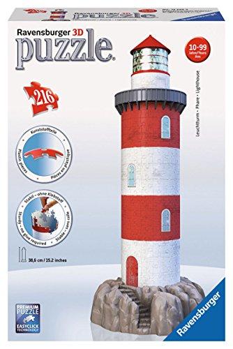 Ravensburger Leuchtturm in der Brandung 3D Puzzle Turm Küste Felsen Meer