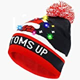 PUMICE LED Light Up Beanie Hat Christmas LED Knit Cap Christmas Halloween