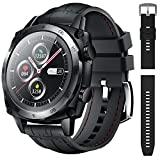 CUBOT C3 Smart Watch, Waterproof Smartwatch with Heart Rate Monitor, Full Touch Screen Fitness Tracker, Sport Watches for Women Men, Sleep Monitor, Pedometer Step Counter for Android iOS Phone, Black