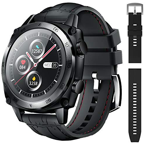Smart Watch for Men, CUBOT Waterproof Fitness Tracker with Heart Rate Monitor, Bluetooth Smartwatch for Android Phones Compatible with iPhone Samsung, Full Touch Screen Sleep Step Monitor, Black