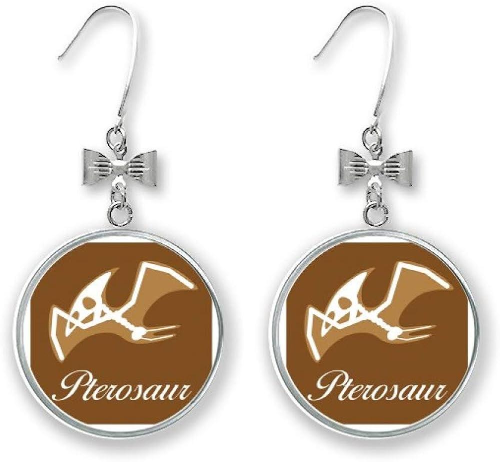 Bone Pterosaur Art Deco High quality new Gift Bow San Antonio Mall Fashion Drop Earrings Stud