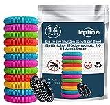 Mückenschutz Armband (14 Stück) Mückenarmband Armbänder zum Schutz gegen Mücken Camping wandern...