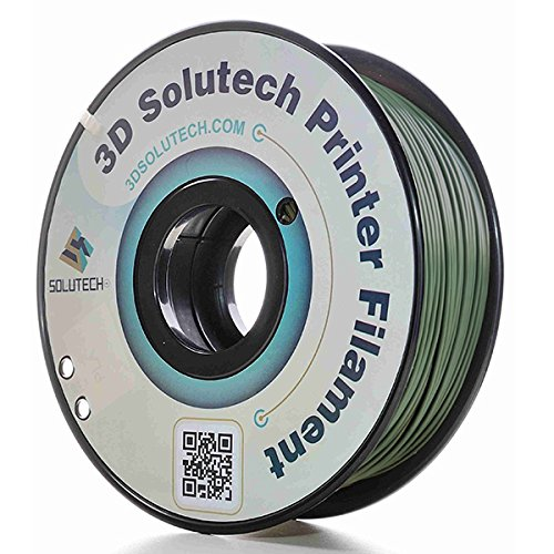 3D Solutech Camo Green 3D Printer PLA Filament 1.75MM Filament, Dimensional Accuracy +/- 0.03 mm, 2.2 LBS (1.0KG)