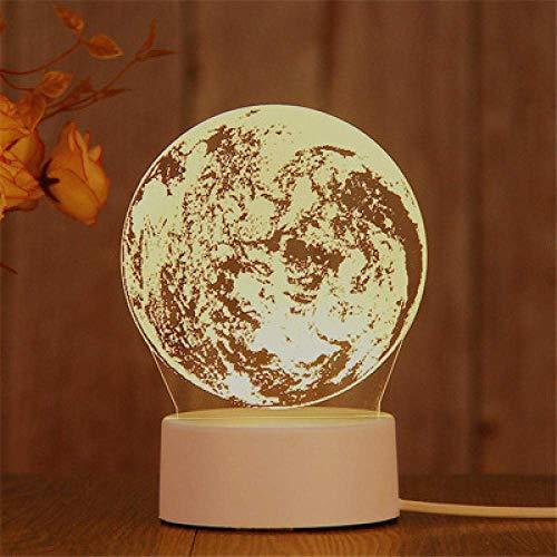 Bar Stools Stecker Modelle 3D Nachtlicht Geburtstagsgeschenk Geleefisch Lampe LED Dekorative Tischlampe Flutlicht Schlafzimmer Nachttischlampe Paar Geschenk-Mond