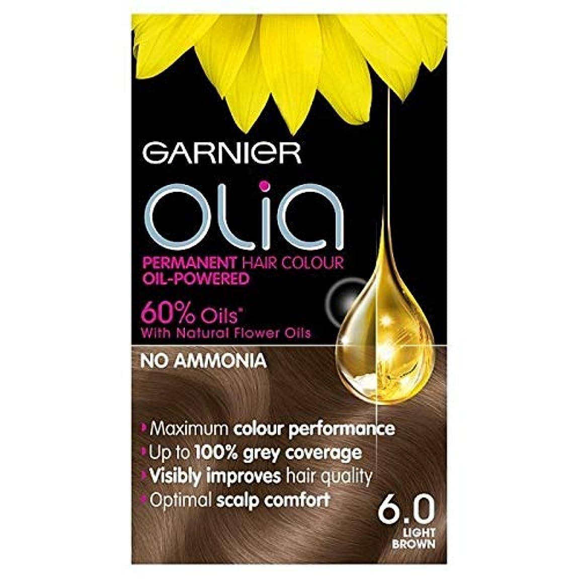 アルコール差休み[Garnier ] 6.0ライトブラウンガルニエOliaパーマネントヘアダイ - Garnier Olia Permanent Hair Dye Light Brown 6.0 [並行輸入品]