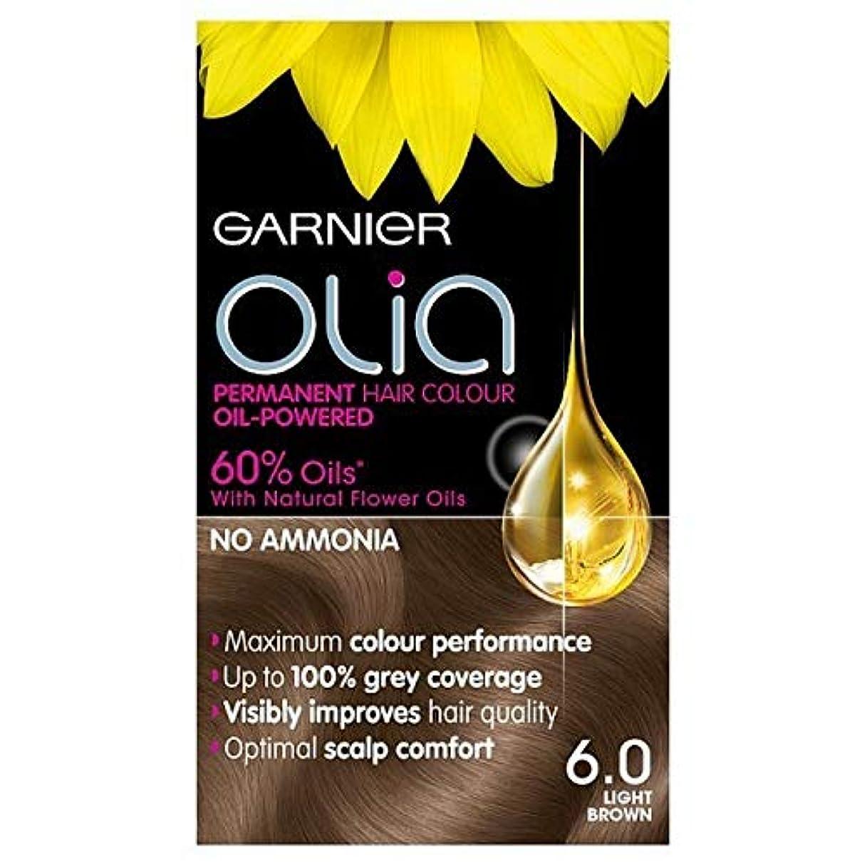 プレフィックス紳士黒くする[Garnier ] 6.0ライトブラウンガルニエOliaパーマネントヘアダイ - Garnier Olia Permanent Hair Dye Light Brown 6.0 [並行輸入品]