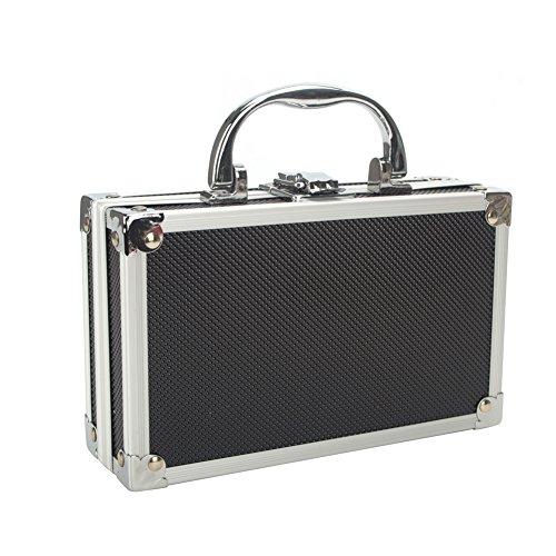Aluminium Koffer Tool Box Portable kleine Aufbewahrungsbox Schwamm Futter Handheld Organizer