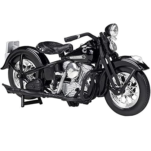PPQQBB Boutique para 1:18 1948 FL Panhead Modelo de Motocicleta Modelo Simulación Aleación Locomotora Adornos