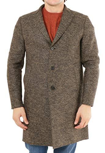 EWOLUZIONE Mod. CLAUS-CA25 mantel, gemalen, wol, beige