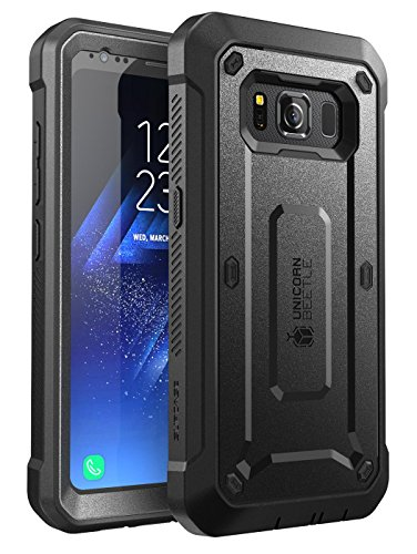 SUPCASE Unicorn Beetle Pro Series Case Designed for Samsung Galaxy S8 Active 2017 ReleaseFull-Body Dual Layer Rugged Holster Case with Built-in Screen Protector (Black)