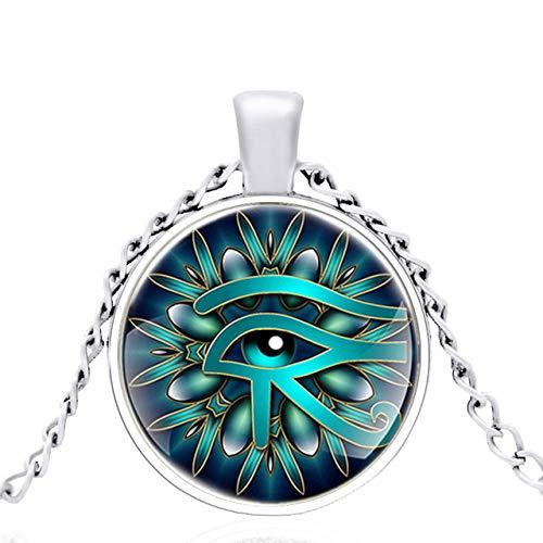 Colgante Ojo De Horus - Pintura en Vidrio - PROTECCIÓN - Amuletos